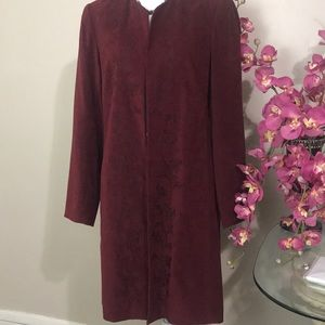 Bandolinos stretch size 10 wine color coat lined